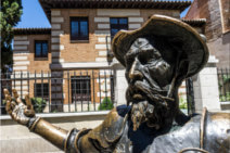 Sculpture of Don Quixote in Alcalá de Henares, Spain