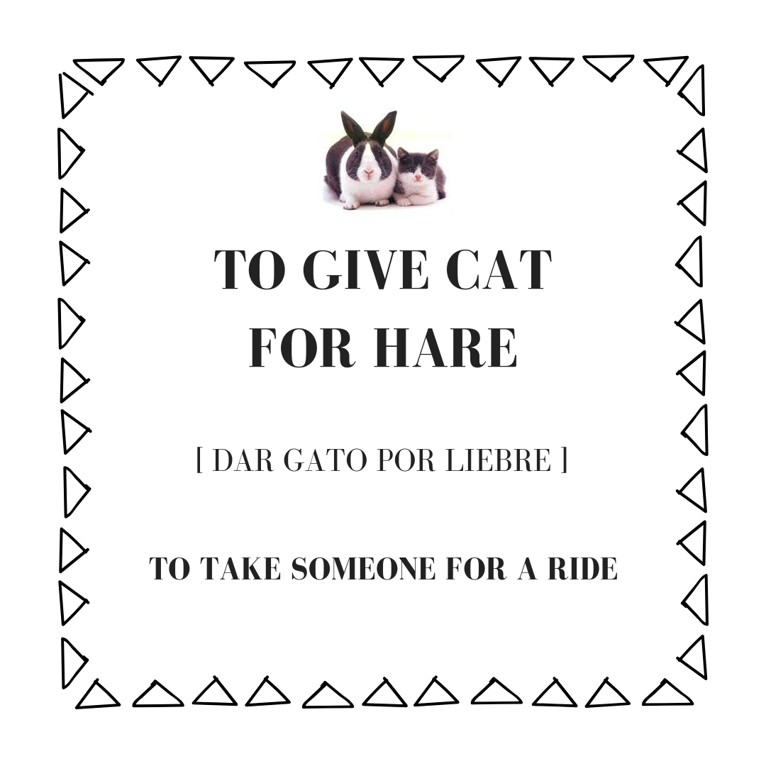 to give cat for hare