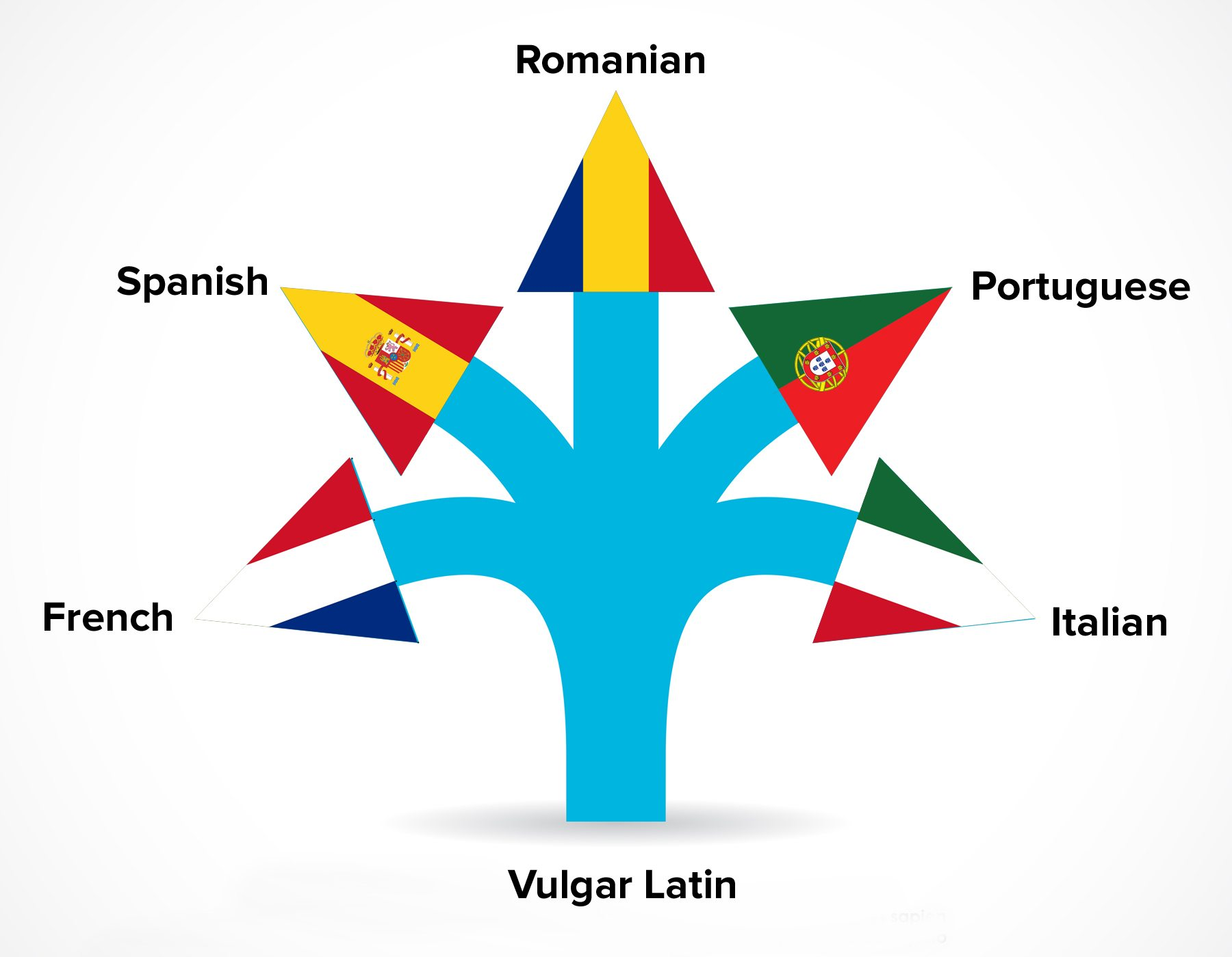 Tree languages, Spanish - Rumanian