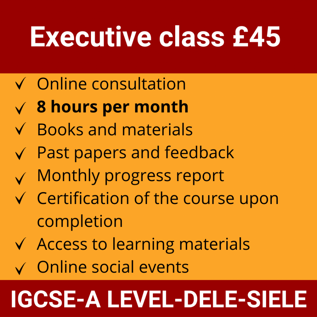 Online Spanish Course | Executive class £45