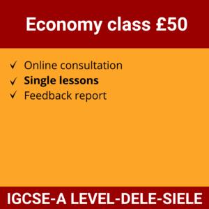 Online Spanish Course | Economy class £50