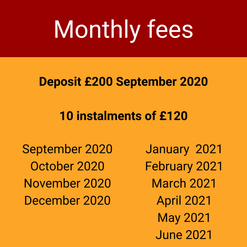 Monthly fees